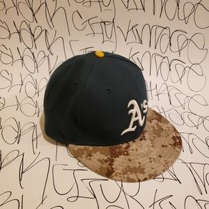 Oakland Athletics New Era 59 fifty Hat 7.5 Fitted